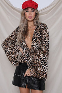 Runaway The Label Reow Leopard Tie Top