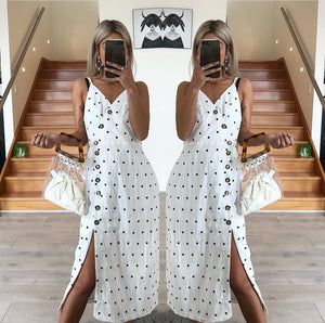Polka White Dress by Paper Heart the Label