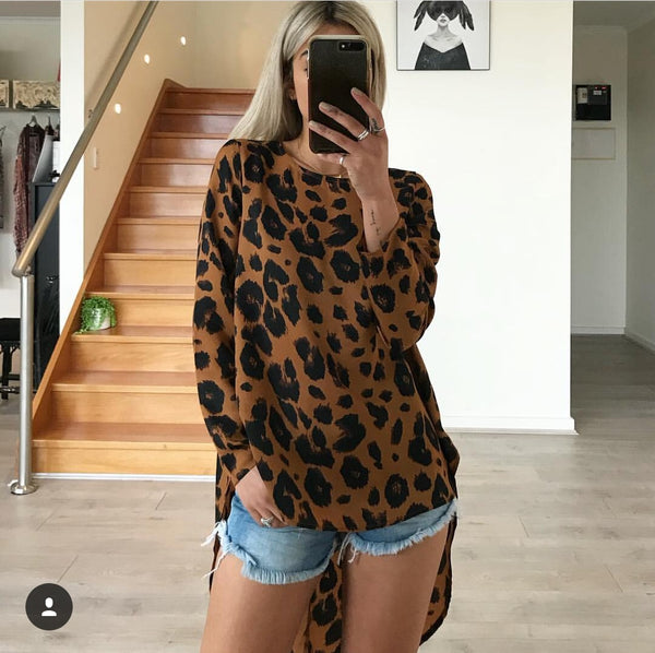 Hi Low Leopard Top by Leona the Label