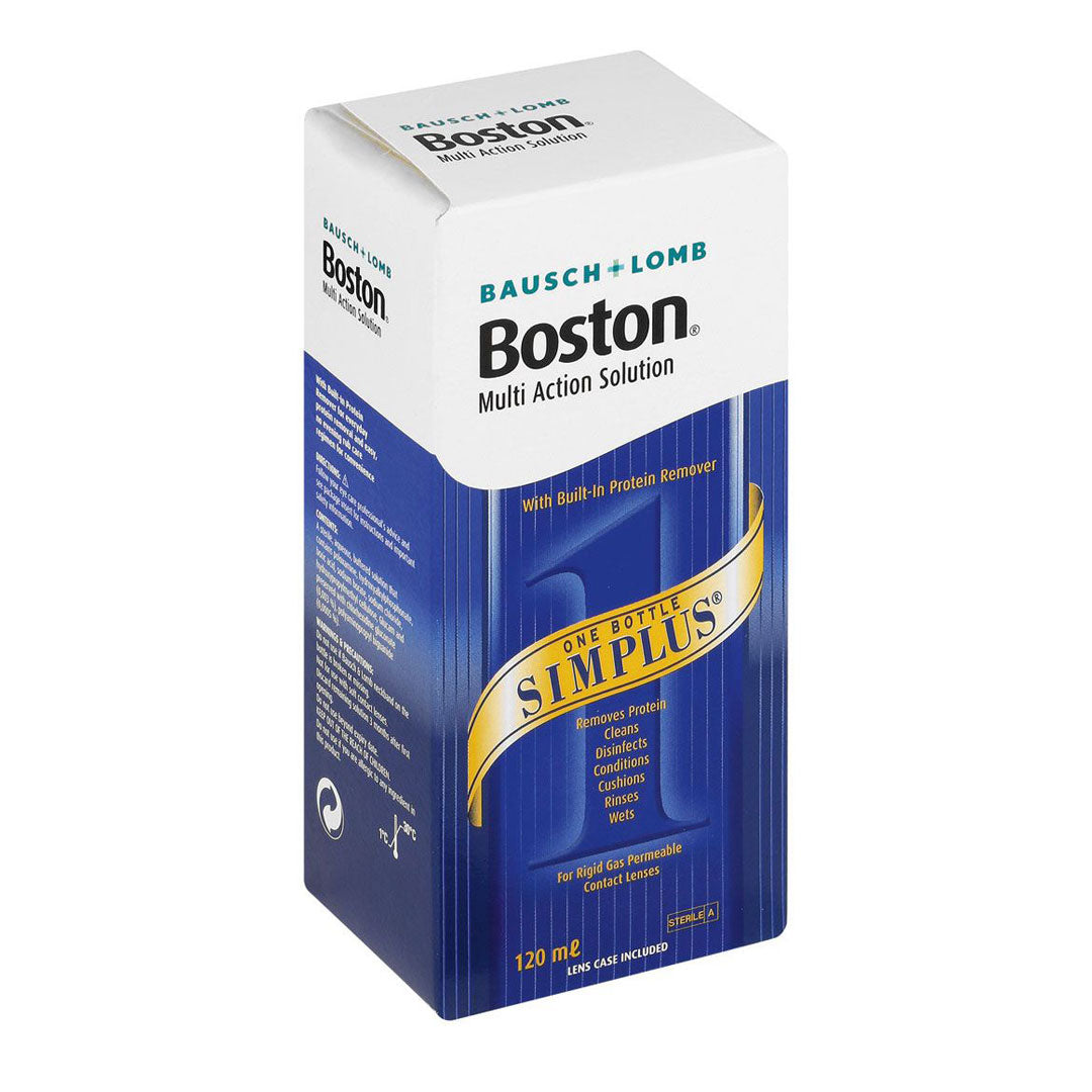 Boston Simplus Contact Lens Solution Box