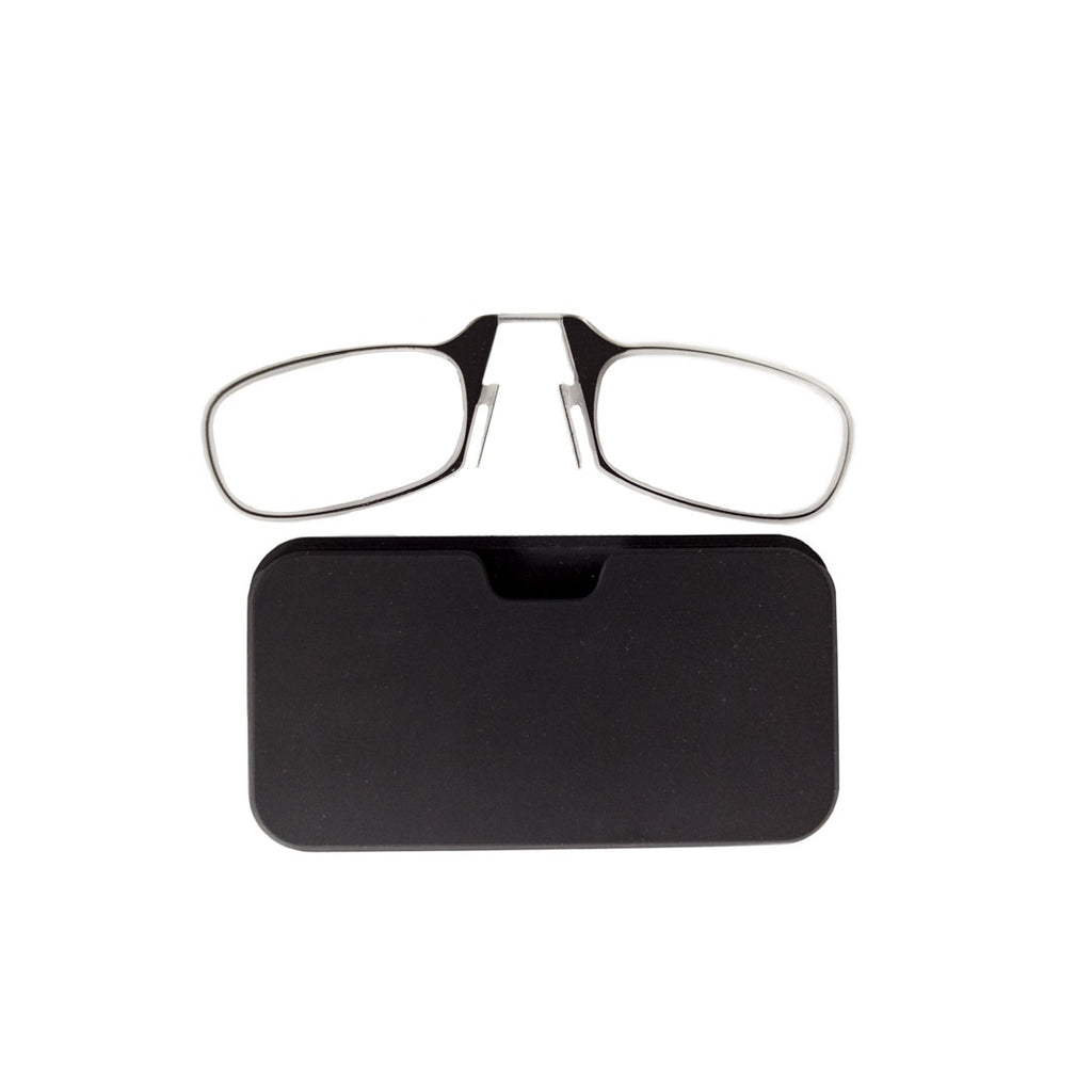 Thin reading glasses with mobile phone case