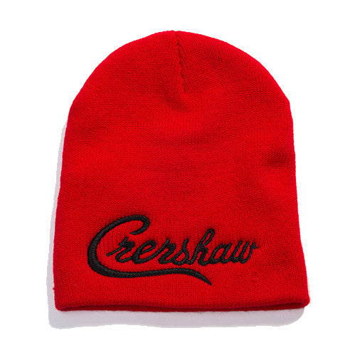 Crenshaw Beanie - Red/Black - Image 1