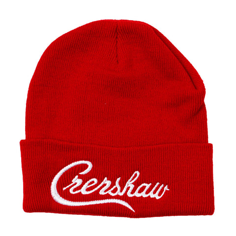 Beanie-Crenshaw-Red-White-Front