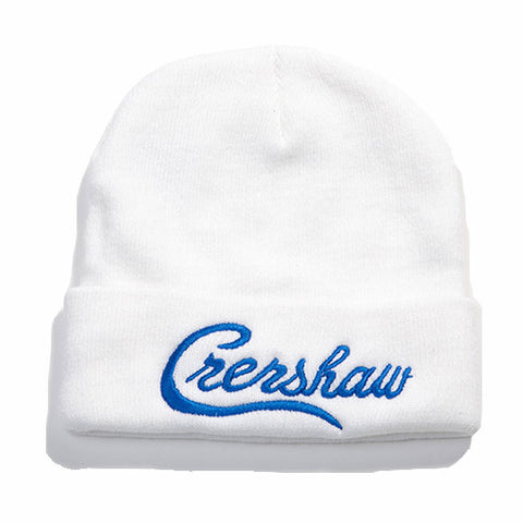 Crenshaw Beanie - White/Royal - Image 1