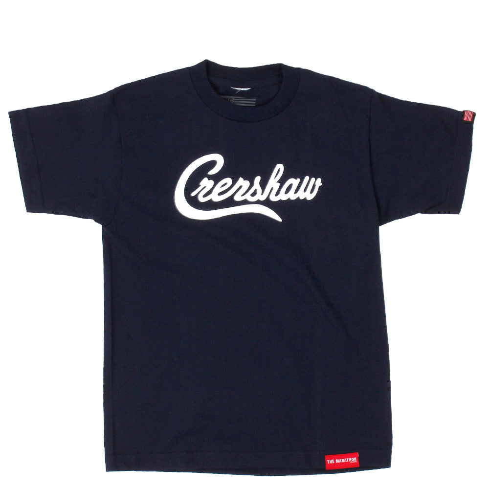 Crenshaw Kid's T-Shirt - Navy/White - Image 1