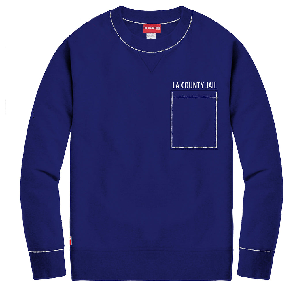d10a6810 County Jail Crewneck Sweatshirt - County Blue [PRE-ORDER]