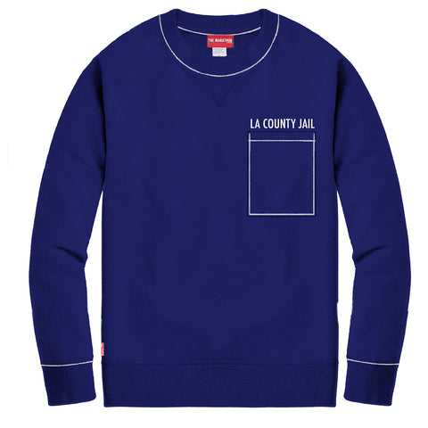 County Jail Crewneck Sweatshirt - County Blue [PRE-ORDER]
