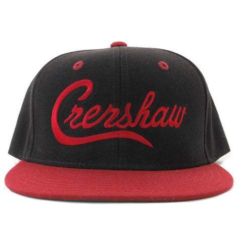 Crenshaw Snapback - Black Red  Two-Tone  – The Marathon Clothing fbf8deb47ab