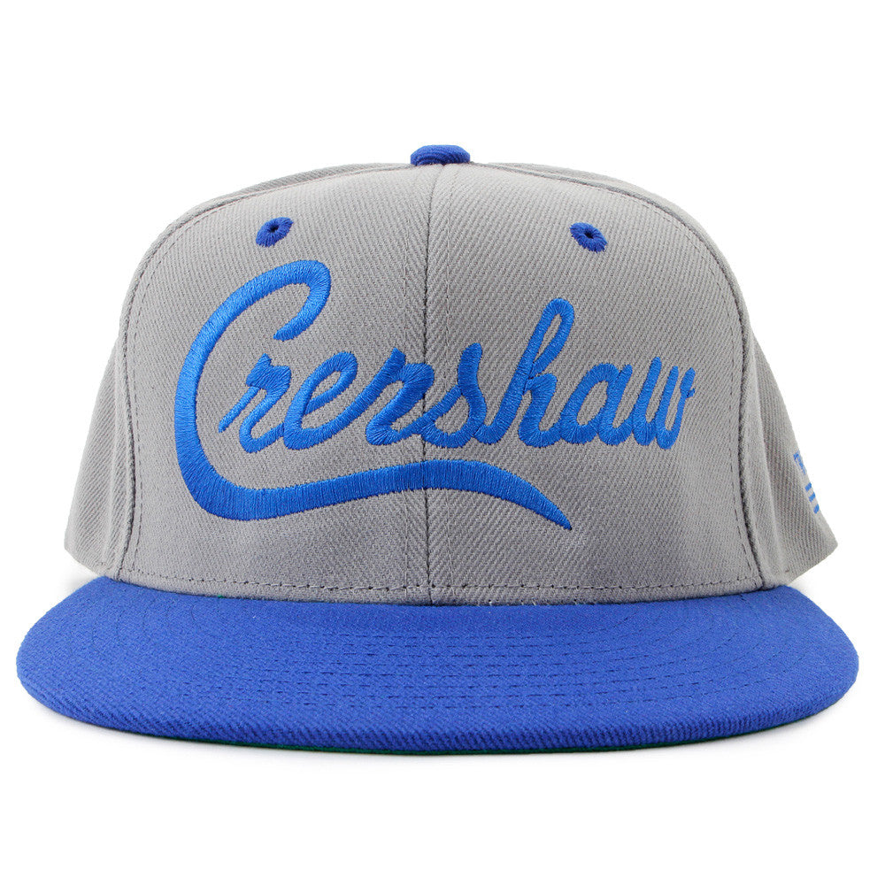 Snapback-Crenshaw-Grey-Royal-Front