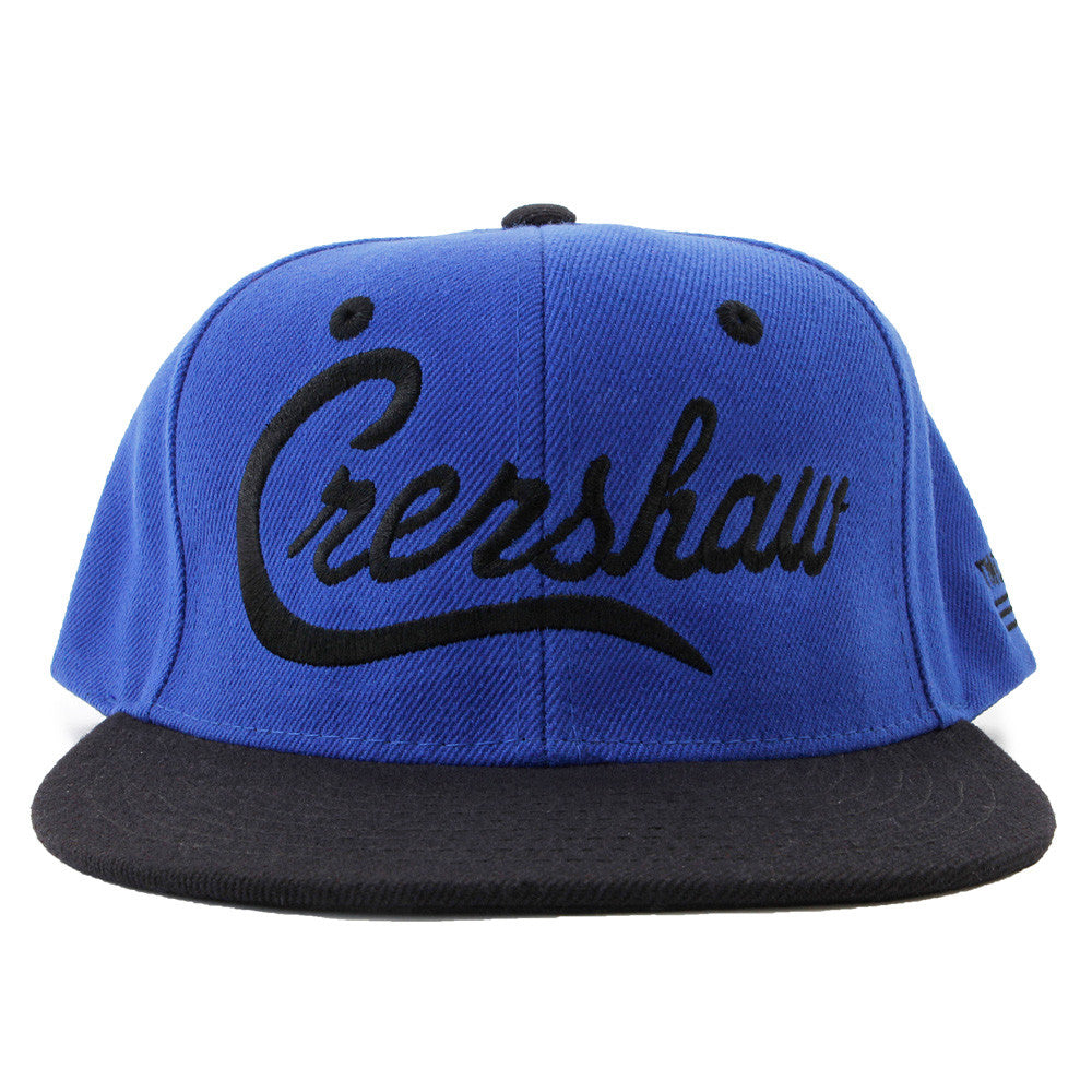 Snapback-Crenshaw-Royal-Black-Front
