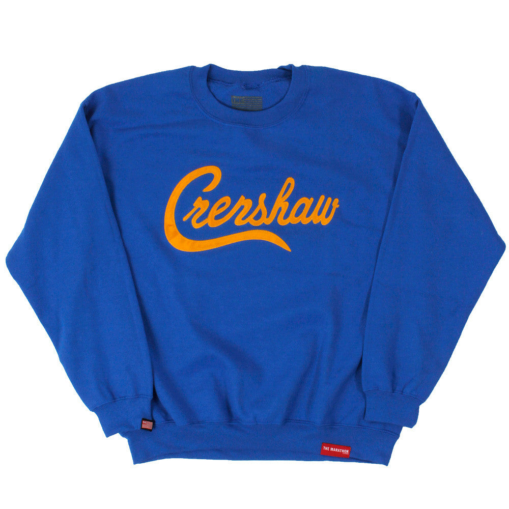 Crenshaw Sweatshirt - Royal/Yellow - Image 1