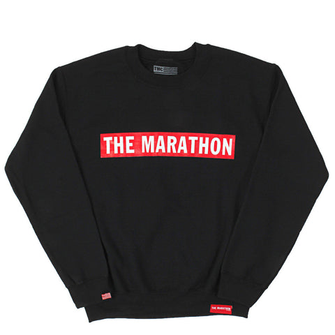 The Marathon Sweatshirt - Black - Image 1