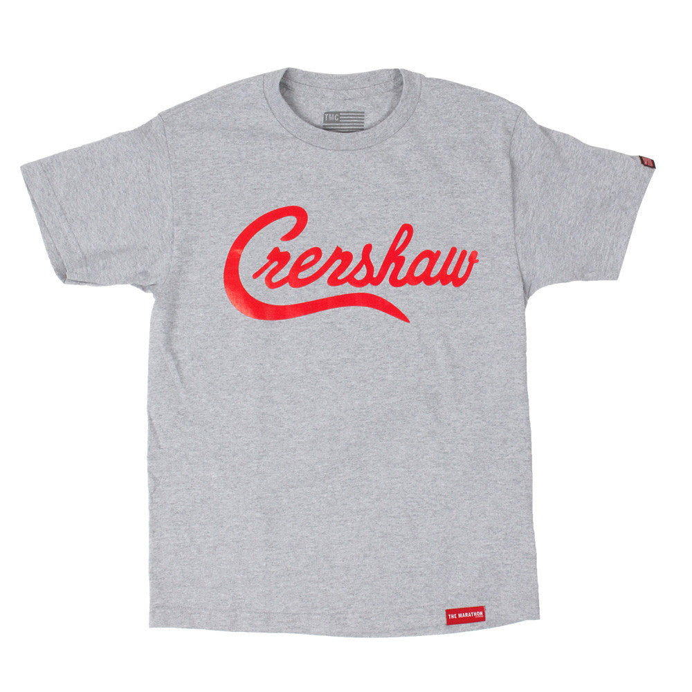 Crenshaw T-Shirt - Ath Heather/Red - Image 1