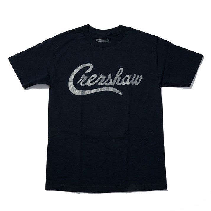 Crenshaw T-Shirt - Navy/Grey - Image 1