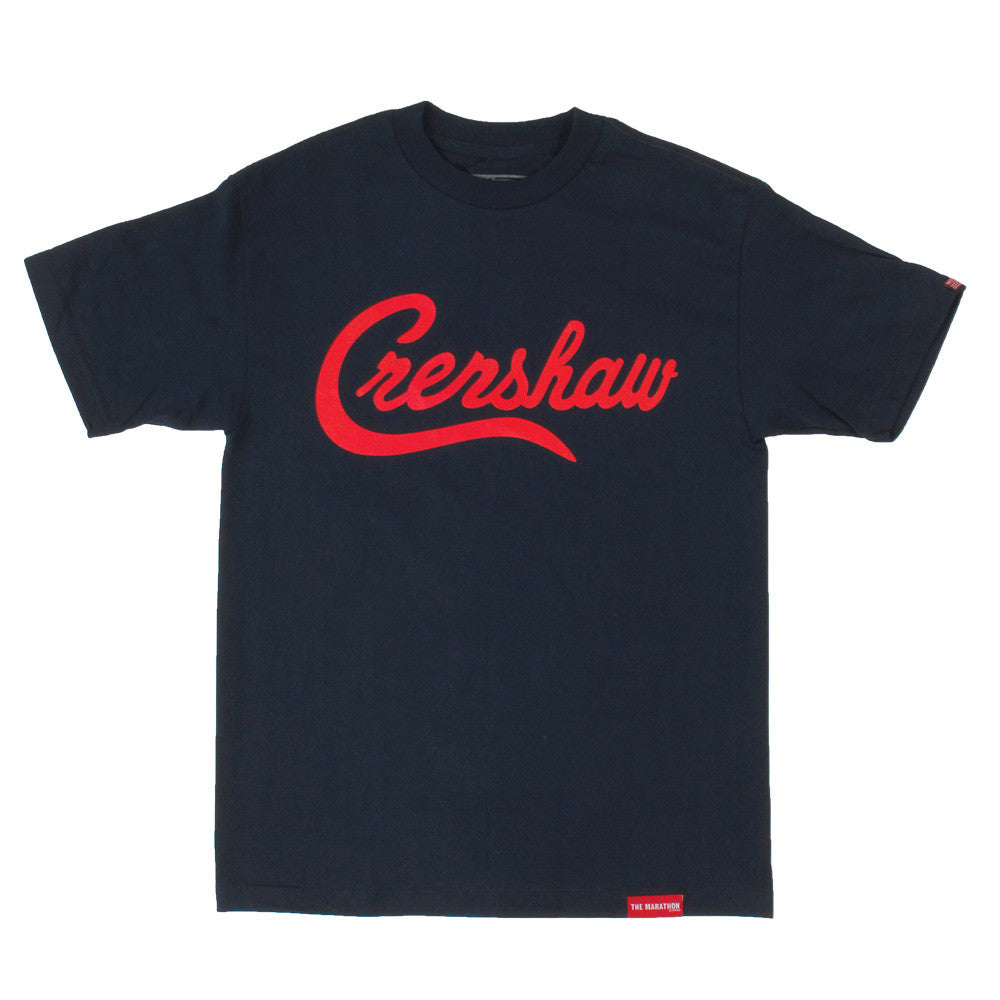 Crenshaw T-Shirt - Navy/Red - Image 1