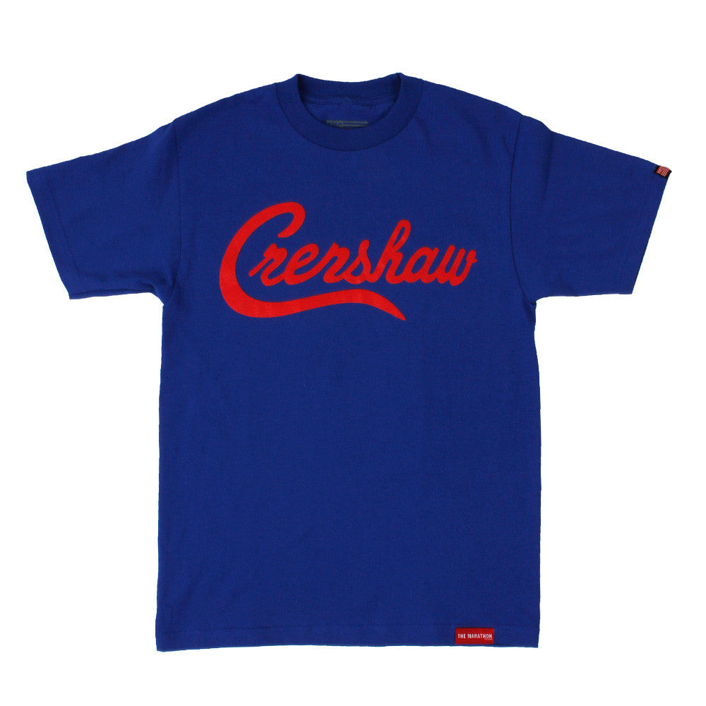 Crenshaw T-Shirt - Royal/Red - Image 1