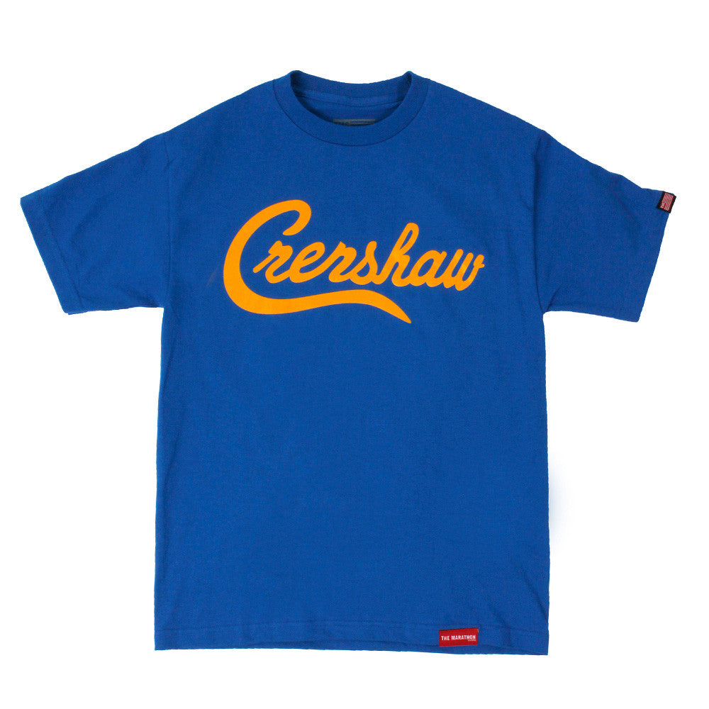 Crenshaw T-Shirt - Royal/Yellow - Image 1