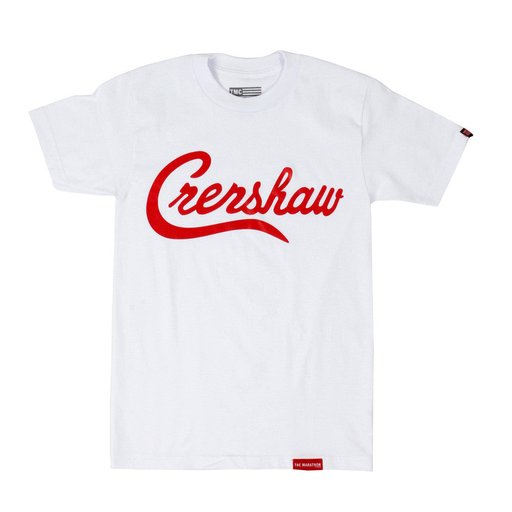Crenshaw T-Shirt - White/Red - Image 1