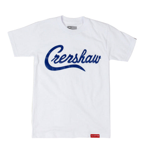 Crenshaw T-Shirt - White/Royal - Image 1