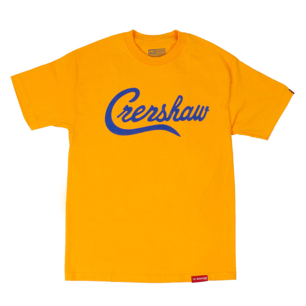 Crenshaw T-Shirt - Yellow/Royal - Image 1