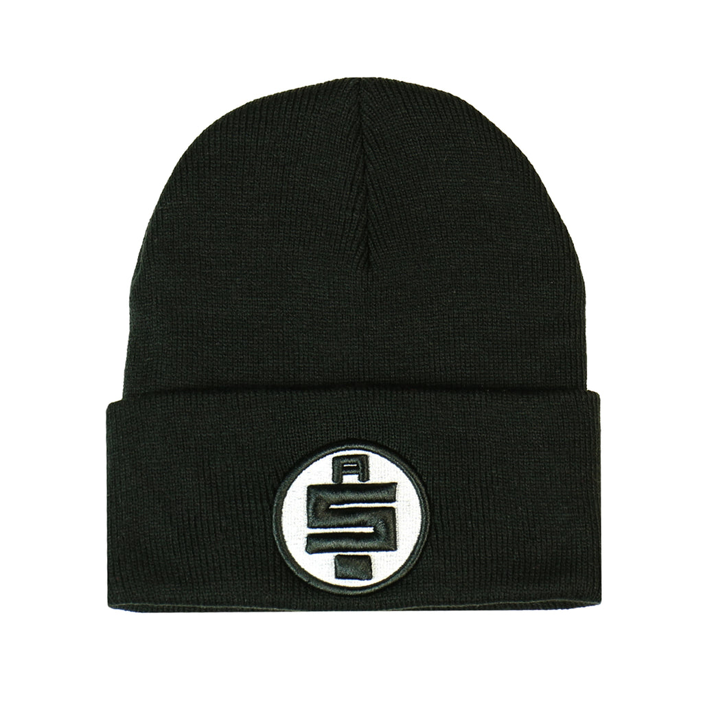 All Money In Beanie - Black/White [Black Outline]