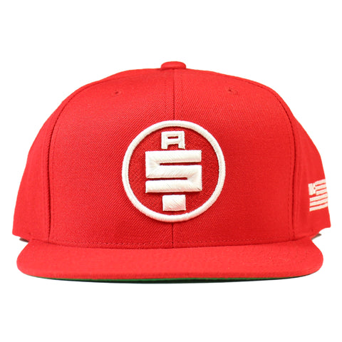 All Money In Snapback - Red/White