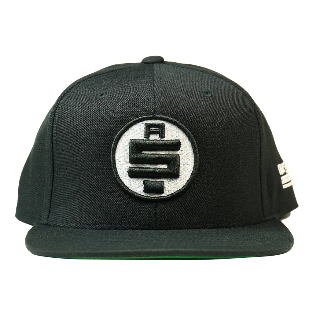 All Money In Snapback - Black/White [Black Outline]
