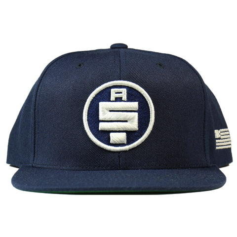 All Money In Snapback - Navy/White