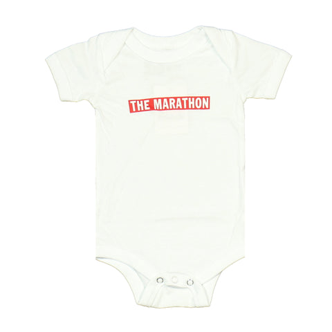 Marathon Bar Onesie - White