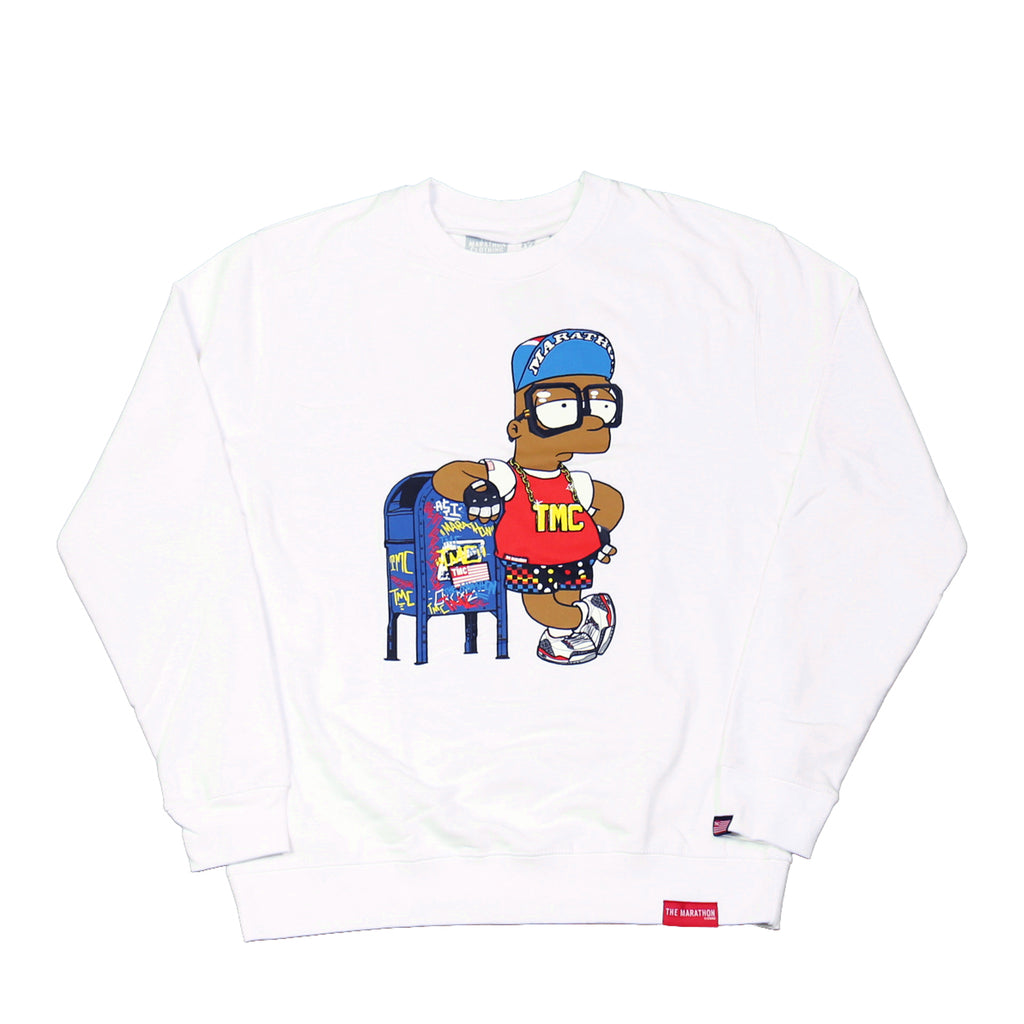 Mailbox Money Retro Sweatshirt - White