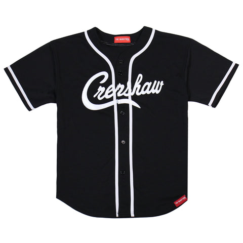 4b549418f2 Crenshaw Baseball Jersey - Black – The Marathon Clothing