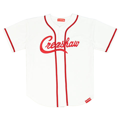 Crenshaw Baseball Jersey - White/Red