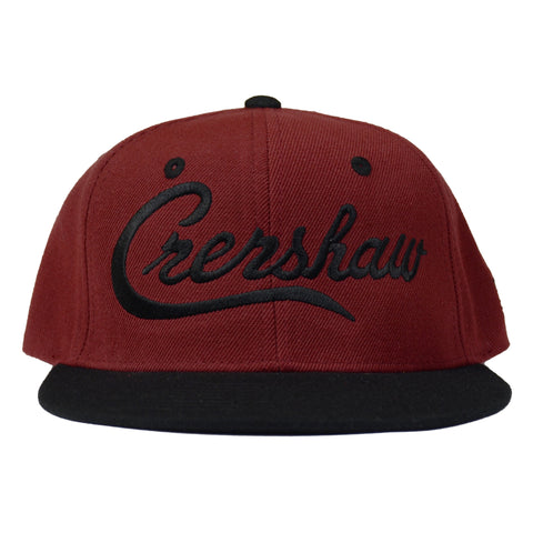 Crenshaw Snapback - Burgundy/Black [Two-Tone]
