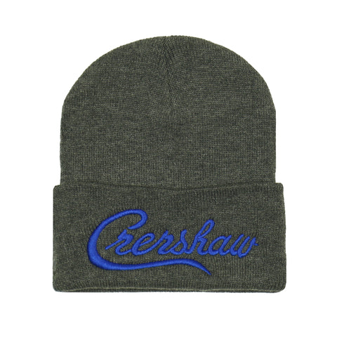 Crenshaw Beanie - Charcoal/Royal