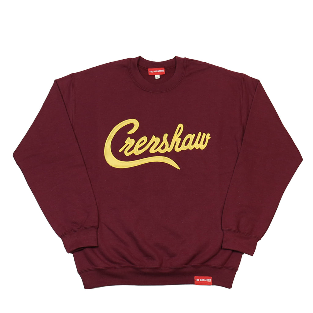 Crenshaw Sweatshirt - Burgundy/Gold