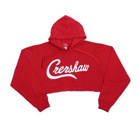 Crenshaw Crop Hoodie - Red/White