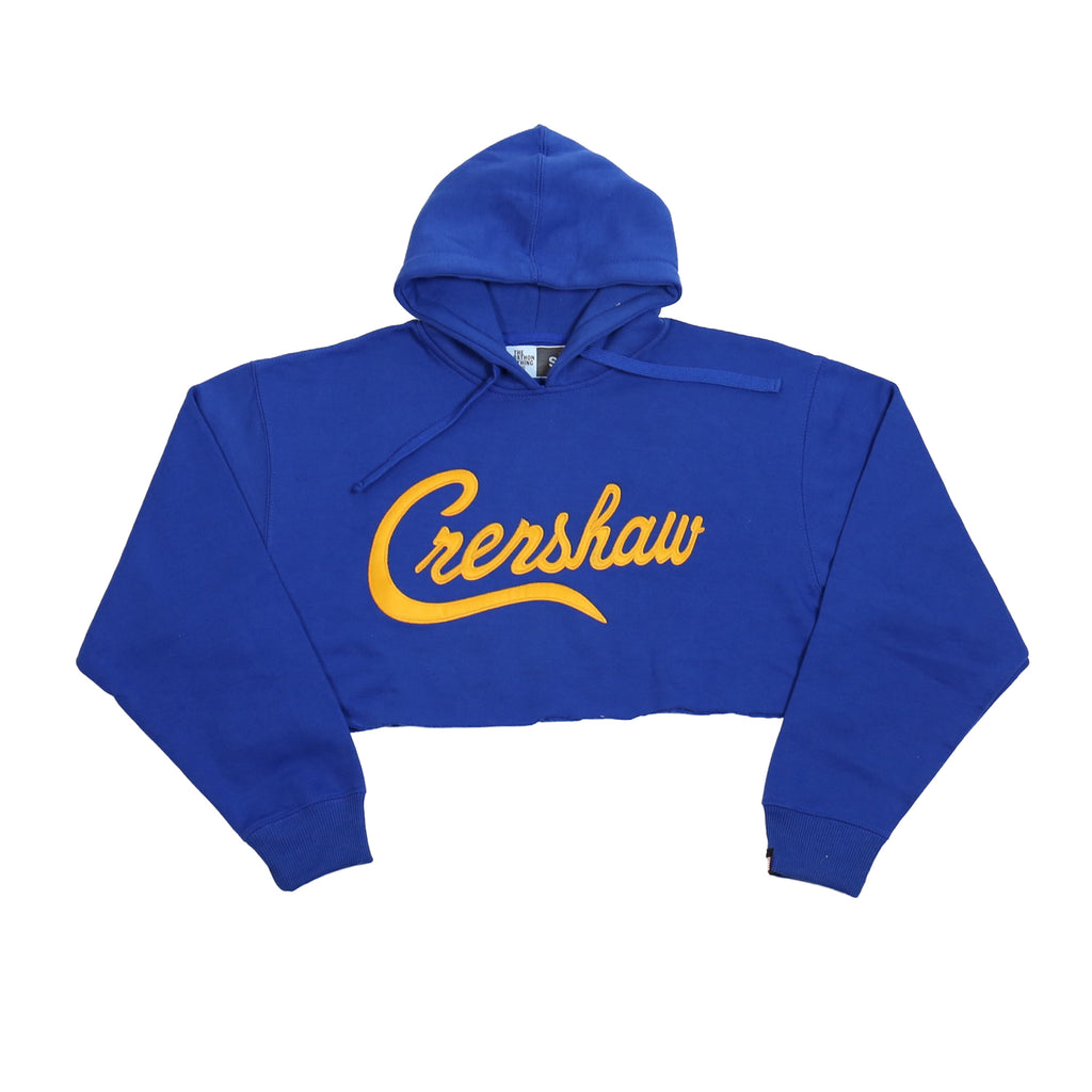 Crenshaw Crop Hoodie - Royal/Yellow