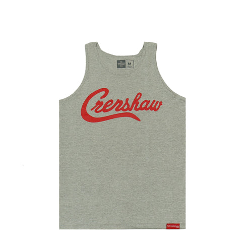 Crenshaw Tank Top - Ath Heather/Red