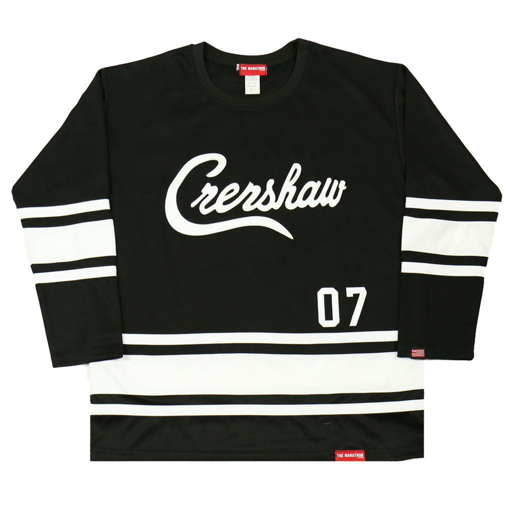Crenshaw Hockey Jersey - Black/White