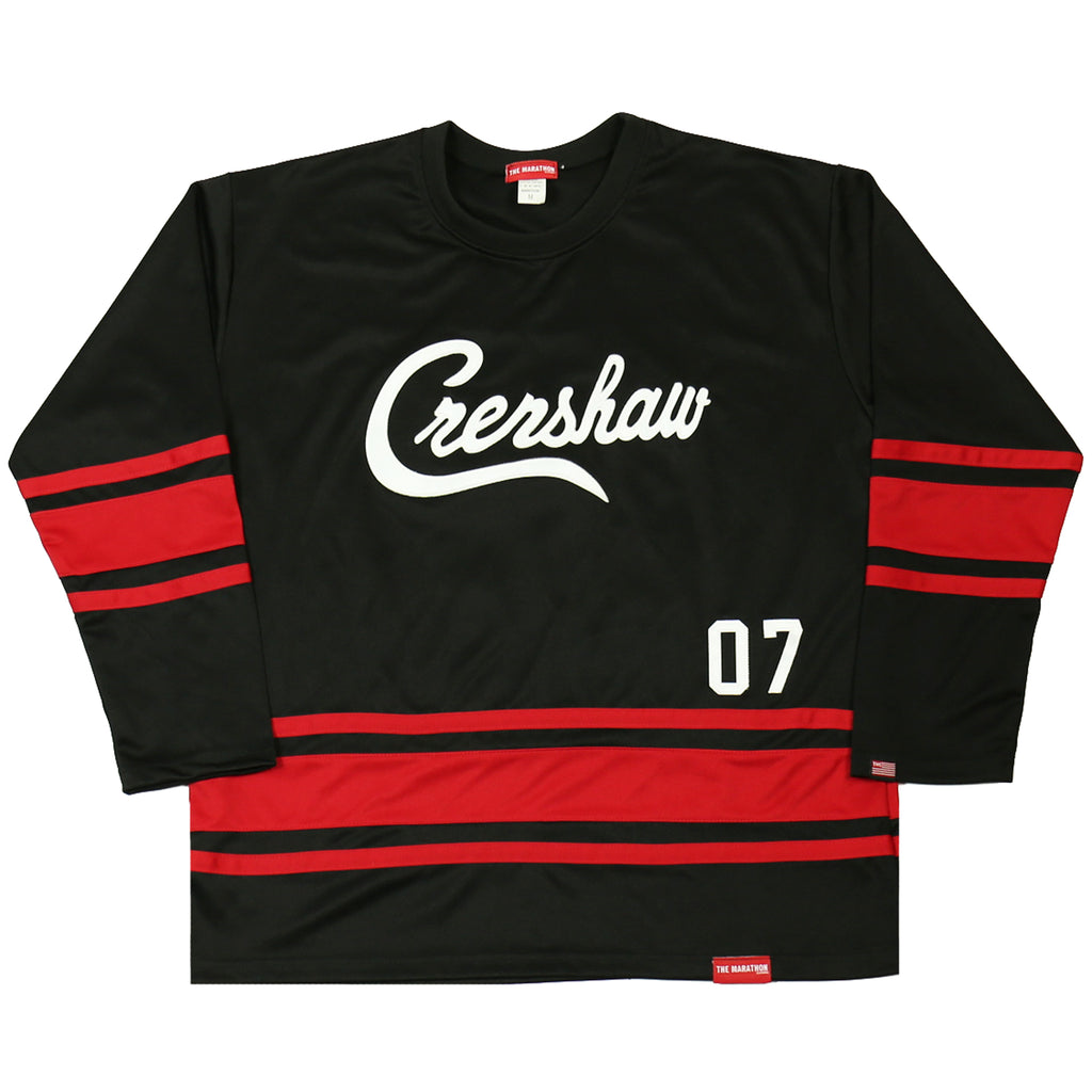 Crenshaw Hockey Jersey - Black/Red