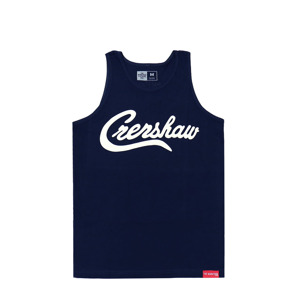 Crenshaw Tank Top - Navy/White