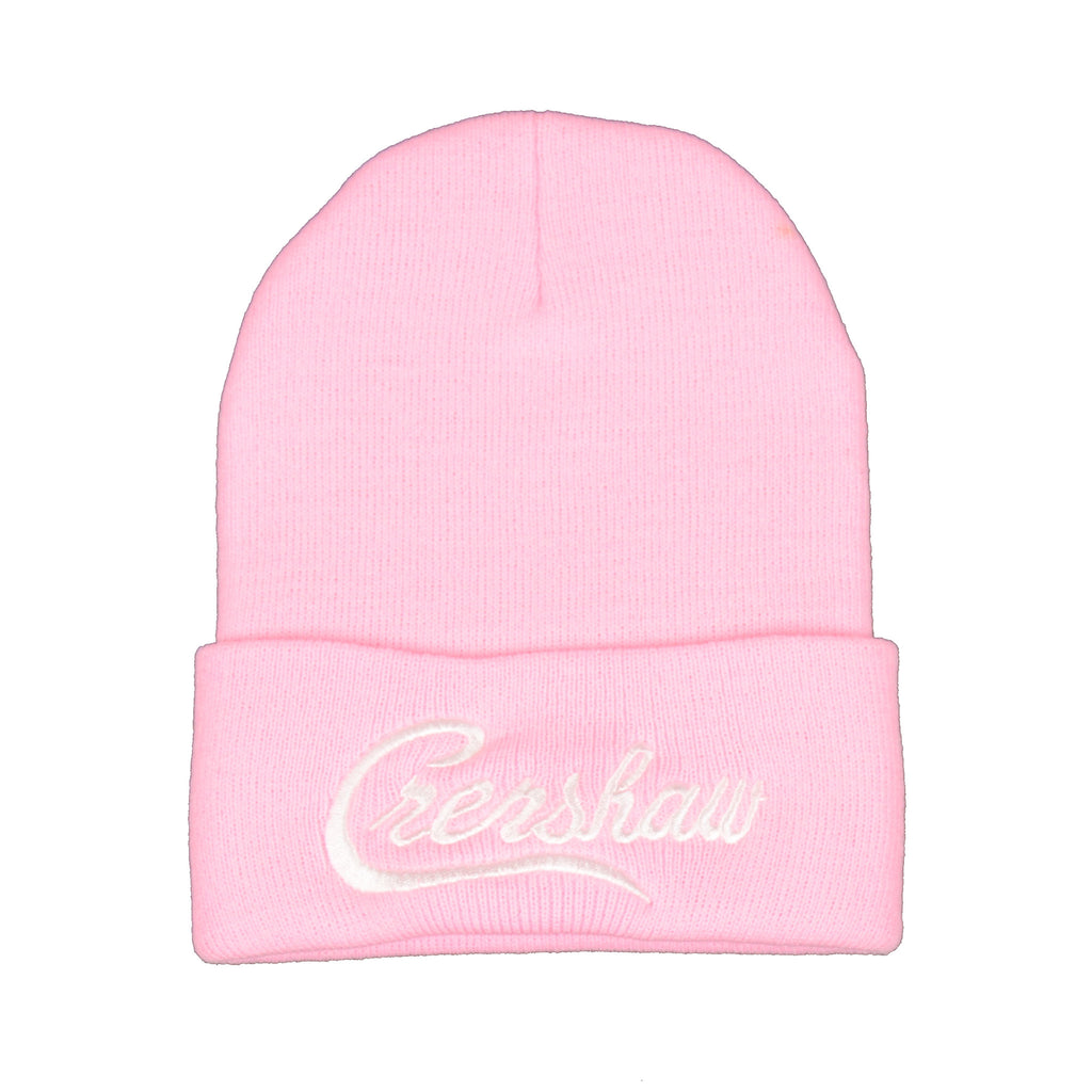 Crenshaw Beanie - Light Pink/White