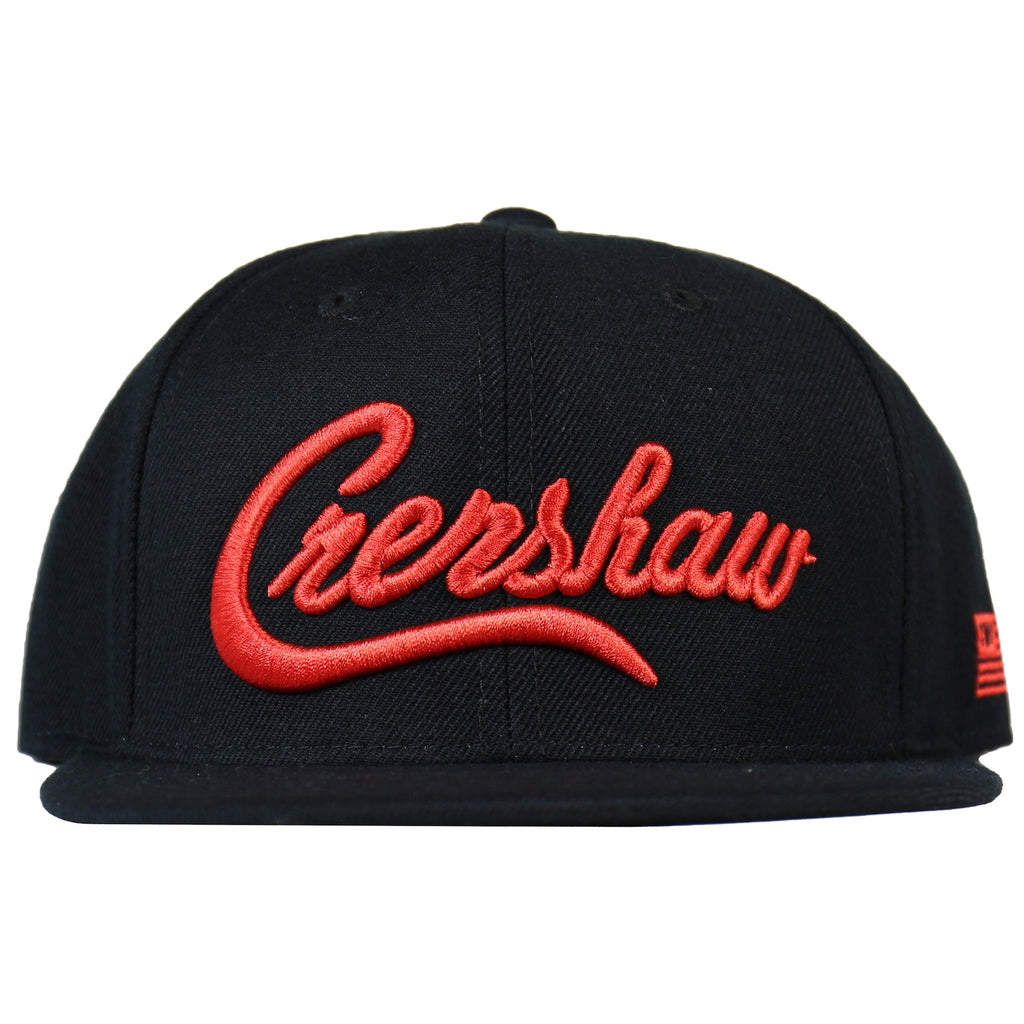 Crenshaw Snapback - Black/Red [3D]