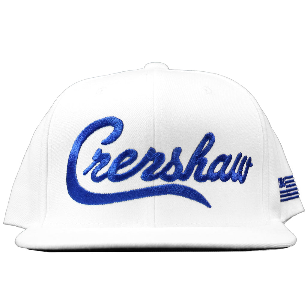 Crenshaw Snapback - White/Royal