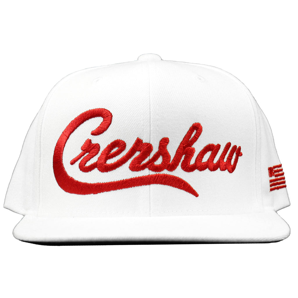 Crenshaw Snapback - White/Red