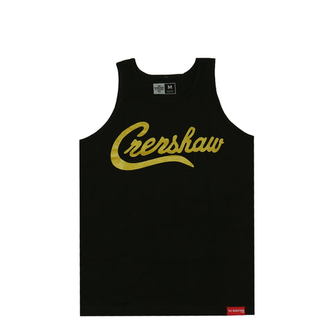 Crenshaw Tank Top - Black/Gold