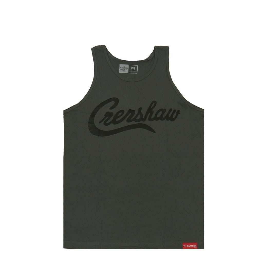 Crenshaw Tank Top - Charcoal/Black