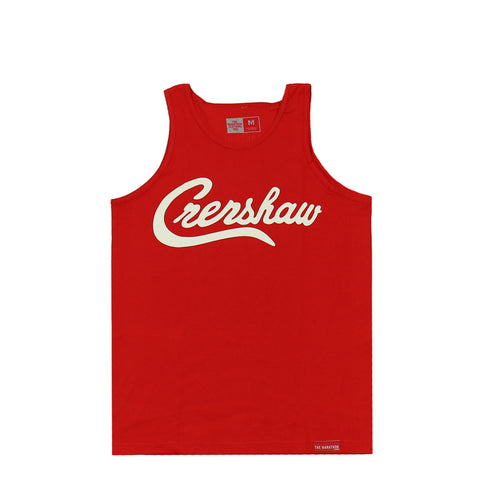 Crenshaw Tank Top - Red/White
