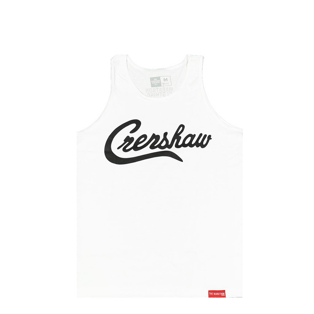 Crenshaw Tank Top - White/Black