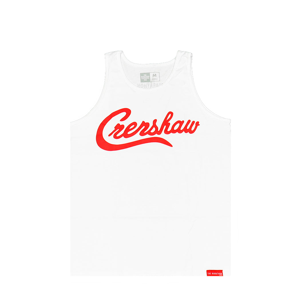 Crenshaw Tank Top - White/Red